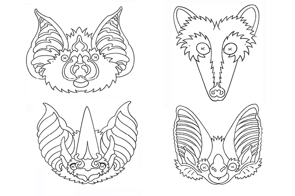 Bat masks for halloween